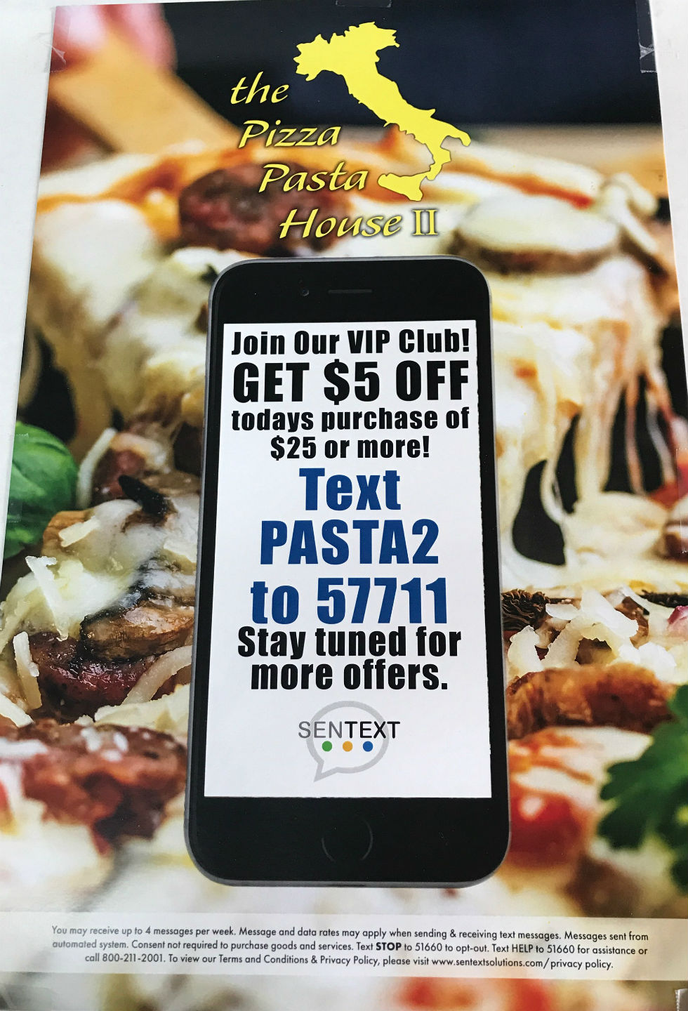 Pizza Pasta House II - Text Club